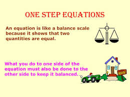 2 one step equations addition and subtraction equations multiplication and division equations