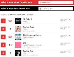 Deutsches Lied Charts Bts Auch In Dieser Woche In Den Deutschen Album Und Single