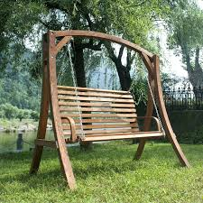 Patio Ideas Hanging Wood Bench Love Seat Chair Swing Patio