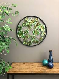 bay isle home lovely tropical wall decor decoration and with design 5 leaf palm tree wall art metal