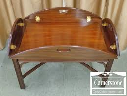 henkel harris mahogany butler tray table sold