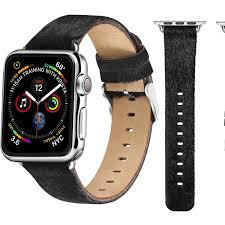 posh tech pony hair leather bands for apple watch series 1 2 3 and 4