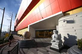 the exterior of lucky dragon which shut down gaming and restaurant operations in early