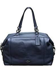 Pebble Leather Lenox Satchel Handbag Shoulder Bag. Coach