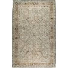 oversize pale persian tabriz rug circa 1900