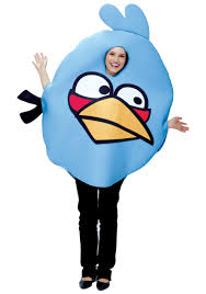 Angry Birds Adult Blue Bird Costume - Halloween Costume Ideas 2021
