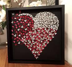 erflies heart girls room decor 3d heart frame wall art paper craft