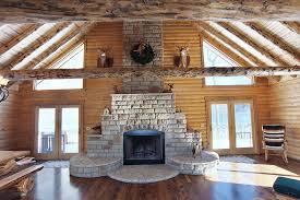 fairview log home log cabin fireplace