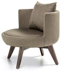 round accent chair. Round Lounge Chair With Wood Base, Red Leatherette Accent