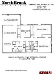 MASSIVE 3 BEDROOM 2 BATHROOM Apartment  1115 SQUARE FEET! With W/D  Connections