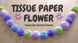 how to make tissue paper flowers easy