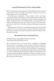 Actuarial Mathematics For Life Contingency Docsity