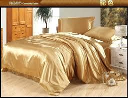 camel tan silk satin bedding set king queen full size sheets linen bed in a bag