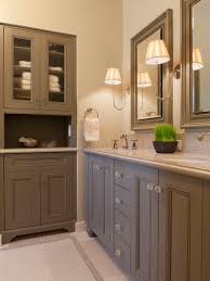 bathroom cabinetry ideas. elegant bathroom photo in san francisco with brown cabinets cabinetry ideas