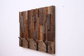 reclaimed wood art coat rack 24x18 5x4
