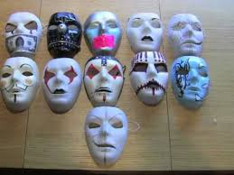 Plain White Masks To Decorate Modified Blank Masks And More Slipknot Hollywood Undead YouTube 22