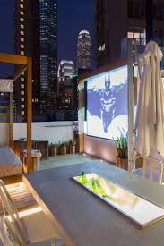 Make your rooftop a resident favorite with a movie screen. Perfect for  summer viewing parties