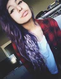 Scene girl with curly hair