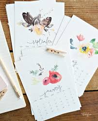 free printable 2016 desk calendar beautiful watercolor calendar free printable myfabulesslife com