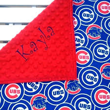 chicago cubs w blanket baby personalized gifts gift basket picture concept shower large amazon