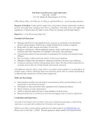 Formidable Resume Skills For Loan Processor With Loan Officer Job