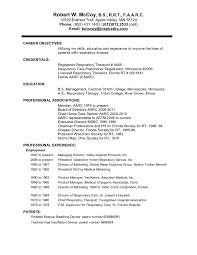 Entry Level Respiratory Therapist Resume Respiratory Therapist