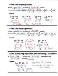 poster for remembering how to solve equations and inequalities no   bie algebra guided interactive math notebook page solving equations
