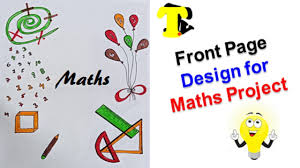 Maths Cover Design Front Page Design For Maths Project Cover Page Drawing For
