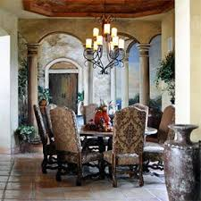a favorite tuscan decor decorating project the homeowner chose our brown e dining chairs to pliment her large round table