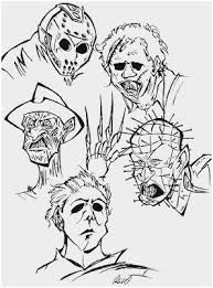 Scary Coloring Pages For Adults Pleasant Horror Movie Coloring Pages