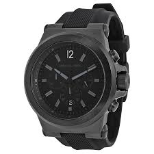 michael kors black silicone strap mens watch mk8152 691464569068 zoom