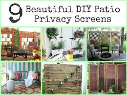 outdoor privacy screen plans ideas portable fence