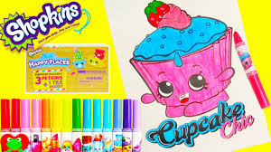 Shopkins Cupcake Chic Coloring Page Happy Places Surprises And More