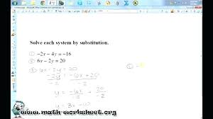 system of equations by substitution worksheet systems of equations elimination method worksheet answers math worksheets substitution