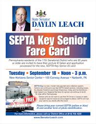- Key Fare Septa Leach Senator Senior Card