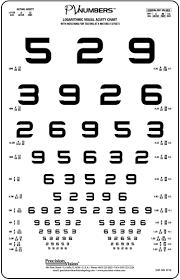 Eye Vision Chart Numbers 4 Meter Vision Test With Pv Numbers Optotypes