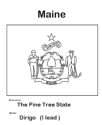Usa Printables Maine State Flag State Of Maine Coloring Pages