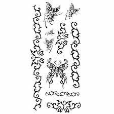 099 1ks Dámské Nepromokavé Dočasné Tetování Zpět Zápěstí Krku Tetování Motýl Náramek Těla Tetování 185 Cm 85 Cm