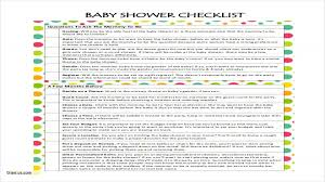 Baby Shower Checklist Template Unique Baby Shower Registry Checklist ...