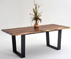 rustic contemporary dining set. contemporary rustic dining table made from solid black walnut with an organic, live edge and set pinterest