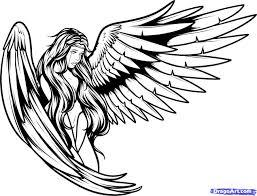 Kleurplaat Engel Kleurplaat Tattoo Draw En Angels