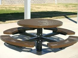 round metal picnic table round pedestal picnic table expanded metal or punched steel or surface mount round metal picnic table
