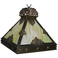 Arts And Crafts Mission Style Lighting Arts And Crafts Mission Style 4 Panel Slag Glass Dome