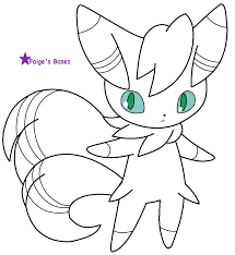 Pokemon Coloring Male Meowstic Base Lineart
