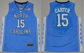 jordan north carolina jersey. men\u0027s jordan north carolina #15 vince carter authentic blue basketball jersey n
