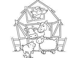 Farm Animal Coloring Pages For Preschoolers Coloring Pages Ideas