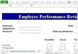 Employee Performance Template Free Employee Performance Review Template Excel Sample Comments