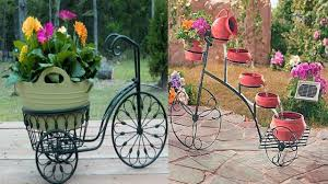 Bicycle Flower planters-bicycle planter stand-metal bicycle garden planter