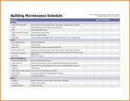 Building Preventive Maintenance Checklist Template Example