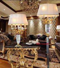 2018 luxury crystal floor lamp for living room decorative floor lamps industrial floor lamp standing led bedroom beauty salon culb crystal light from